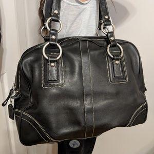 Coach leather shoulder bag! Like new